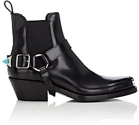Calvin Klein Men's Tipped-Strap Leather Chelsea Boots-Black