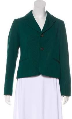 Marni Wool-Blend Button-Up Blazer