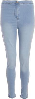 Dorothy Perkins Womens *Quiz Mid Blue Stretch Skinny Fit Jeans