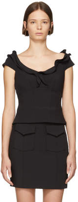 Opening Ceremony Black Split Ruffle Tank Top