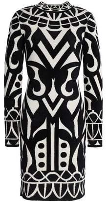 Temperley London Jacquard-Knit Mini Dress