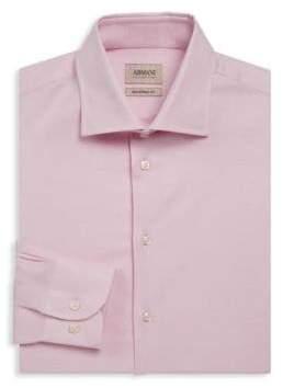 Giorgio Armani Modern-Fit Textured Dress Shirt