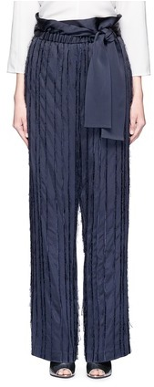3.1 Phillip Lim3.1 Phillip Lim Fringe embroidered stripe wide leg pants