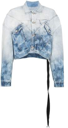 Unravel Project Ombre Bleach Dye Denim Jacket