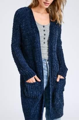 Love Tree Blue Knit Cardigan