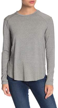 Halogen Long Sleeve Curved Hem T-Shirt (Regular & Petite)