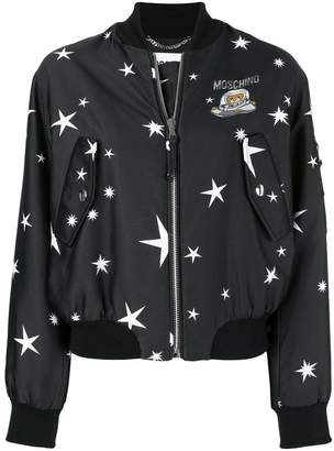 Moschino teddy star bomber jacket