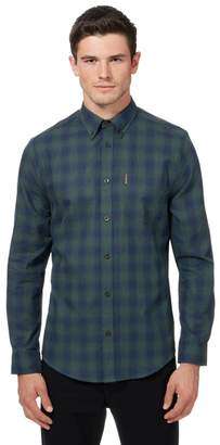 Ben Sherman Green Ombre-Effect Checked Shirt
