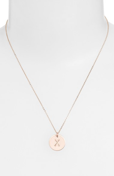 Women's Nashelle 14K-Gold Fill Initial Disc Necklace 3