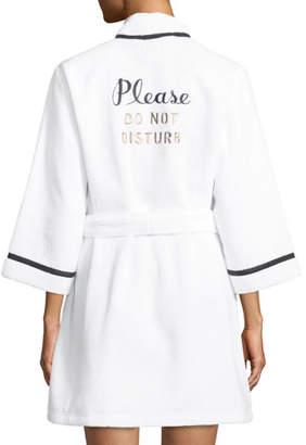 Kate Spade Do Not Disturb Cotton Robe