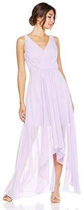 Cambridge Silversmiths The Collection Women's V-Neck Chiffon High/Low Evening Gown