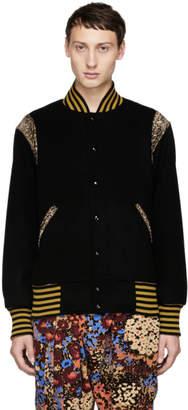 Needles Black Award Bomber Jacket