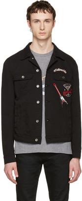 Dolce & Gabbana Black 'Follow Me' Denim Jacket $1,145 thestylecure.com
