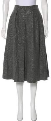 Lela Rose Metallic Virgin Wool Skirt