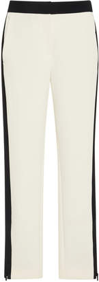 Tibi Anston Crepe Straight-Leg Pants