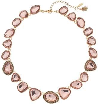Vera Wang Simply Vera Irregular Faceted Stone Necklace