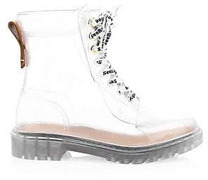 See by Chloe Women's Florrie Lace-Up Rain Boots