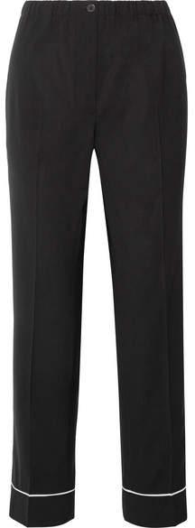 Prada - Wool Straight-leg Pants - Black