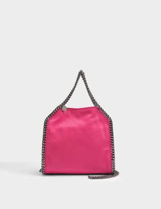 Stella McCartney Shaggy Deer Mini Falabella Tote Bag in Hot Pink Eco Leather