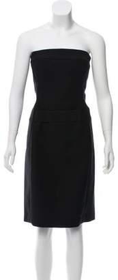 Gucci Wool Strapless Mini Dress