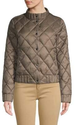 Sage Diamond Quilted Coat