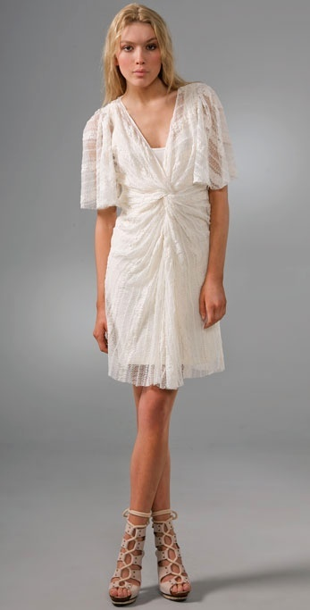 Thakoon Thakoon Addition Twist Front Lace Dress