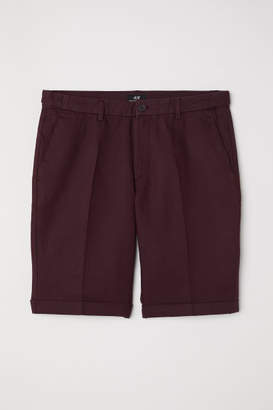 H&M Chino Shorts Skinny Fit - Red