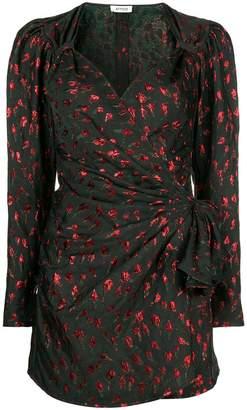 ATTICO wrap front mini dress