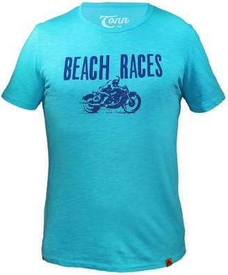 Tonn Beach Races Tee Turquoise