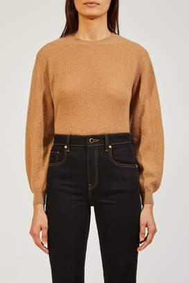KHAITE The Viola Sweater in Camel