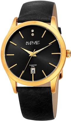 August Steiner Women's Quartz Stainless Steel and Leather Casual Watch, Color: (Model: AS8233YGB)