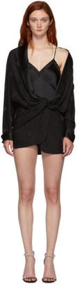 Alexander Wang Black Draped Pyjama Jumpsuit