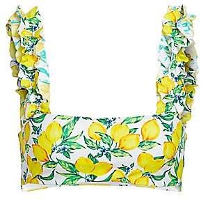Onia Women's X WeWoreWhat Como Lemon Bikini Top