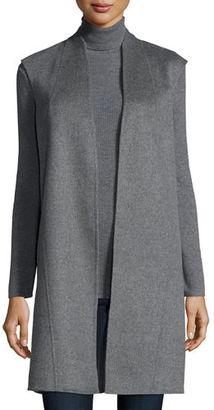 Neiman Marcus Cashmere Collection Reversible Double-Face Cashmere Vest $895 thestylecure.com