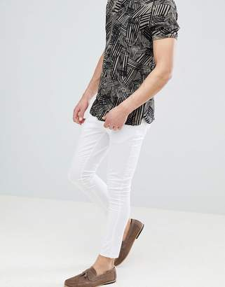 Asos Design Extreme Super Skinny Cropped Chinos In White