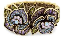 Heidi Daus Crystal Flowering Pansy Bangle Bracelet