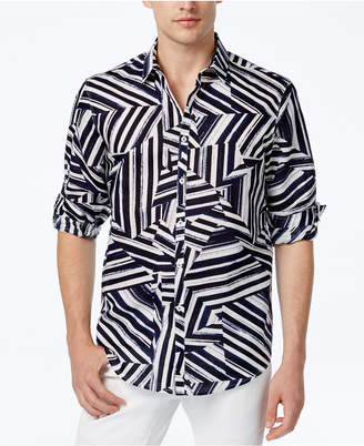 INC International Concepts I.n.c. Men's Shattered Abstract-Print Shirt, Created for Macy's