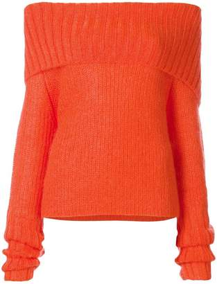 McQ off-the-shoulder chunky knit jumper