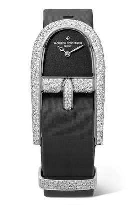 Vacheron Constantin Heures Créatives 23.99mm 18-karat White Gold, Satin And Diamond Watch