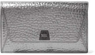 Akris Anouk Envelope Metallic Textured-leather Clutch