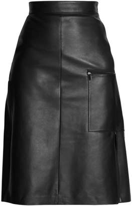 Acne Studios Ligrid A-Line Leather Skirt