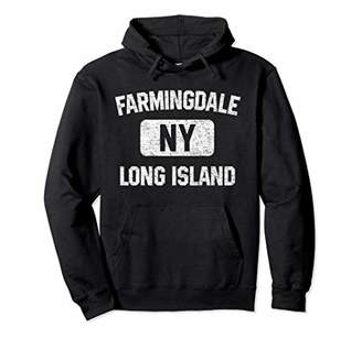 Farmingdale NY Hoodie Long Island Gym Style Distress Print