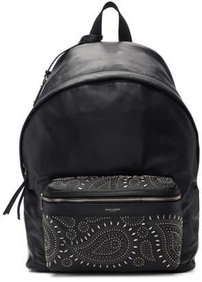 Black Bandana Stud City Backpack