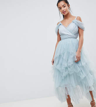 True Decadence Petite Premium Layered Tulle Cami Midi Dress