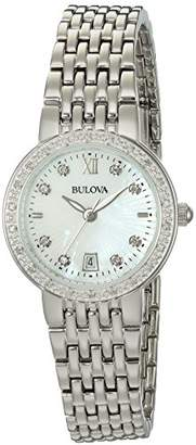 Bulova Women's Quartz Stainless Steel and Silver Plated Casual Watch(Model: 96R203) $399 thestylecure.com