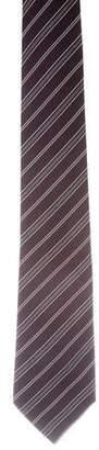 Christian Dior Striped Crepe Silk Tie