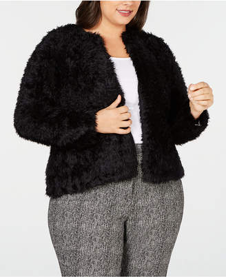Calvin Klein Plus Size Fluffy Cardigan