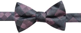 Ryan Seacrest Distinction Men's Monte Check Pre-Tied Silk Bow Tie, Created for Macy's