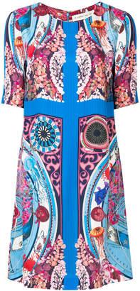 Etro mixed print shift dress