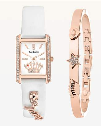 Juicy Couture Juicy Charm Silicone Watch & Bangle Set